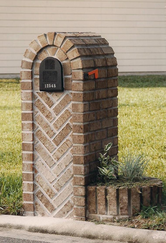 brick mailboxes - Brick Mailbox Designs