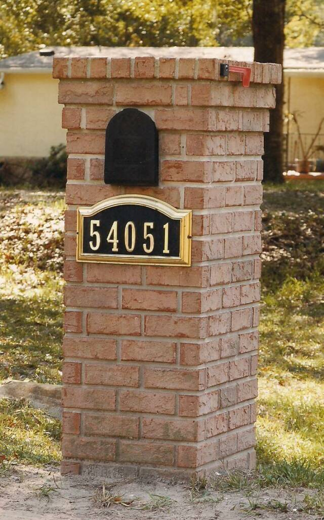Brick mailboxes for Best mailbox design